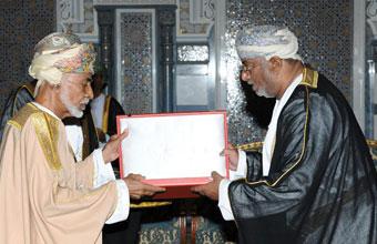 HM The Sultan Confers Oman Civil Order - Second Class- on H.E Chairman of SEZAD