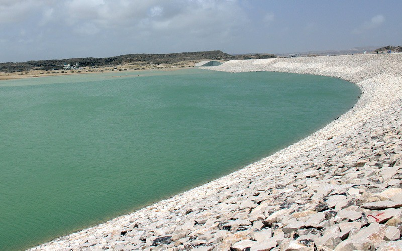 Duqm protection dams store 24 million cubic meters of water
